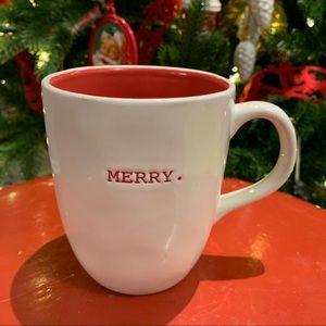 Rae Dunn Christmas Mug MERRY Farmhouse Chic